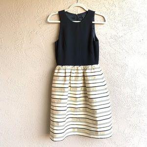 J crew : striped bottom black body dress